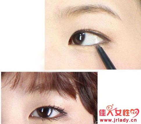 内双眼睛画眼线_内双眼皮眼线画法技巧 秒变性感双眼 - 眼妆 - 佳人女性网