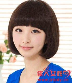 韩式短发烫发图片