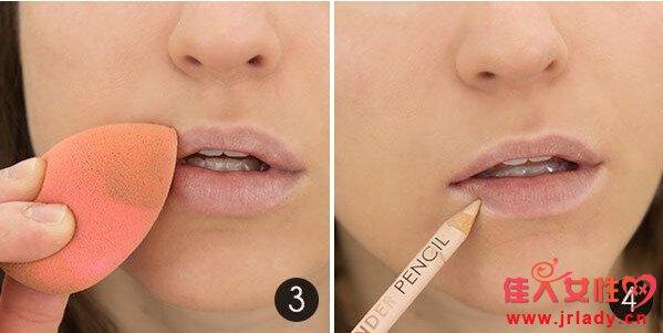 唇妆的画法图解 一整天保持完美双唇