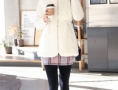 白色冬装外套 穿出清新纯美气质
