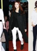韩星教你白色美搭 展现时尚魅力