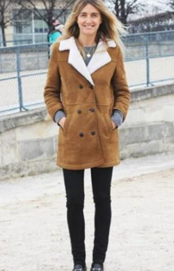 羊羔绒外套搭配 温暖可爱显时髦