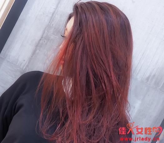 红色染发颜色大全 酒红玫红橘红草莓色