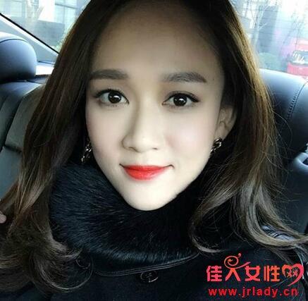 素颜五五分空气刘海图片