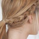 女生面试发型扎法图解 半扎发穿发发型够淑女