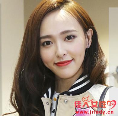 唐嫣发型图片 三七分刘海很甜美