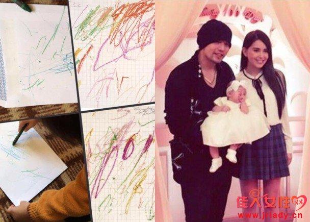 周杰伦晒1岁女儿小周周画作 竟价值4.8亿元 图