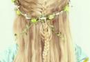 五岁小女孩发型图片 公主扎发爱心半扎发双丸子头