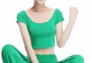 瑜伽运动服套装款式图片 胸垫抹胸不可少