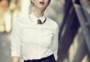 蒋欣穿衣风格搭配图片 红色提花短裙很美