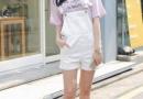 夏天背带裤街拍 减龄又显腿长