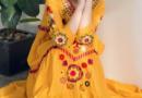 芥末黄连衣裙款式图片 搭配什么颜色好看