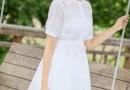 白色连衣裙又仙又美 夏日必备