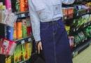 长袖衬衫搭配半身裙 仙范十足