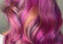 糖果染发色效果图片 桃红染也不错