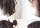 泡沫卷短发发型图片 配丸子头很妩媚