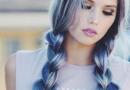 长发编染发图片 蓝色好冰雪女王
