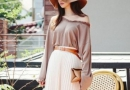 开启夏日藏肉肉模式:T恤配长裙时髦优雅两不误