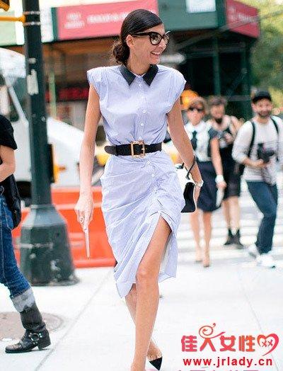 着秀丨端庄优雅衬衫裙 知性女人最美丽!