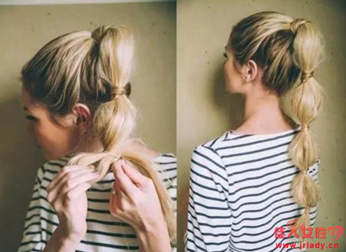 泡泡马尾辫怎么扎 用头发缠绕