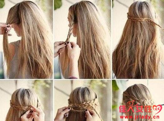 头发少怎么编发好看 麻花辫丸子头照样来