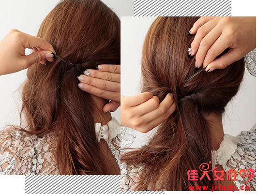 扭转扎法步骤图解 长卷发也是可以这样扎的
