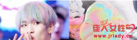 冰激凌色头发图片 刨冰系列有点好看