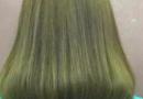 闷绿色头发图片 适合什么肤色