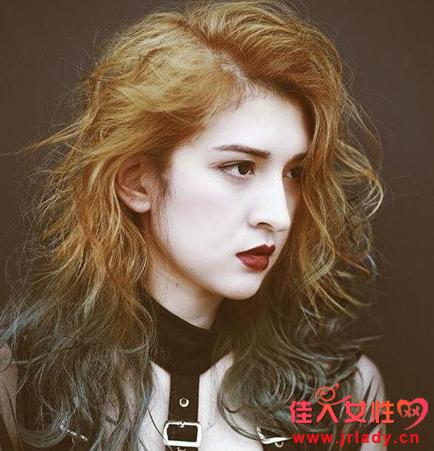 空气烫发型图片中长发发型图片 第一天不能洗吗图片