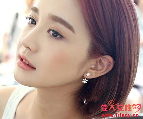 短发配什么耳环好看 卷发和超短发不一样