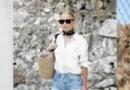 牛仔短裤+白色上衣 夏季这样穿简单又优雅
