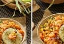 菠萝虾仁椰香咖喱炒饭怎么做才一粒粒的