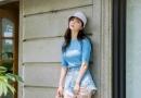浅蓝色牛仔短裤配什么上衣 打造夏日小清新