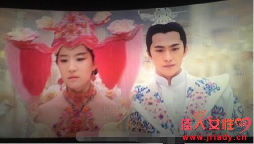 杨洋被白浅大婚造型惊到 当场问刘亦菲:你有照