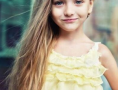 芭比公主发型图片 金棕色螺旋烫卷发好看