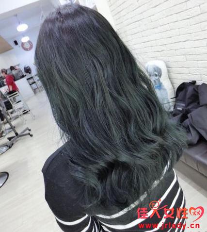 甘蓝绿头发发色图片 怎么染