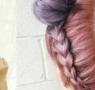 汤圆头发型图片 赫本汤圆头然脏粉色