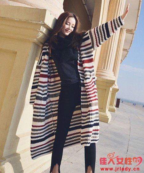 秋季准备什么外套好 宽松针织开衫选什么颜色
