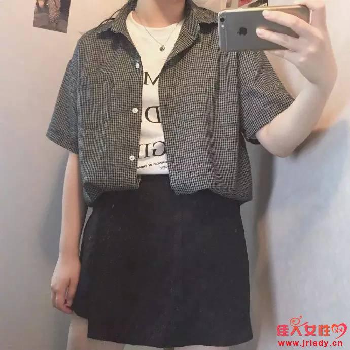 微胖女孩穿衣搭配 学院的中性风也是不错滴~