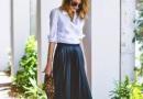 时尚潮人穿衣搭配的秘密 以衬衫和百褶裙的搭配