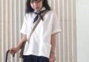 小个子女生宽松版穿搭 随性又可爱