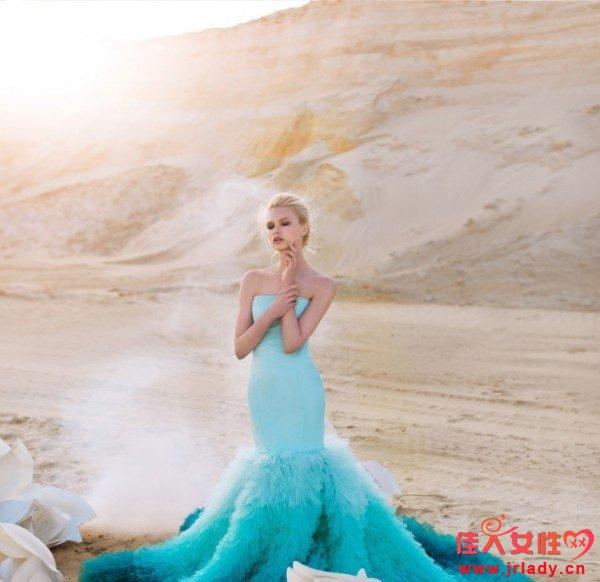 各种渐变配色的婚纱礼服 你喜欢哪一款