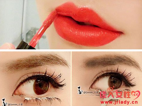 唇妆,红唇妆
