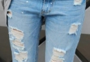 年轻人的时尚老人不懂 中国好奶奶补破洞牛仔裤
