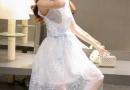 欧根纱扎人怎么处理 欧根纱连衣裙绣花新款图片