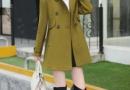 今年最流行的森女系毛呢外套女中长款图片