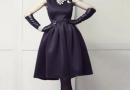 冬季女生黑色裙子搭配图片