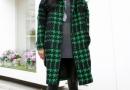 时髦又复古的千鸟格毛呢外套搭配技巧