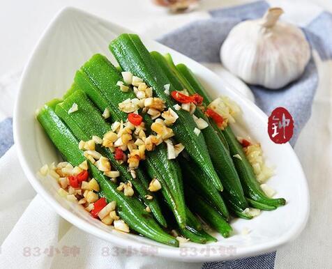 春节菜谱简单好做的菜白灼秋葵的做法大全