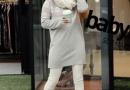 雪花条纹中长款毛衣 尽显小女人的性感妩媚